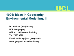 1006: Ideas in Geography
