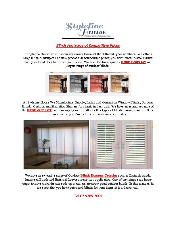 Blinds Footscray at Competitive Prices