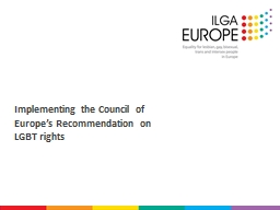 Implementing the Council of Europe's Recommendation on LG