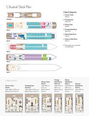 L Austral Deck Plan CABIN LAYOUT Balcony Dressi ro Tv