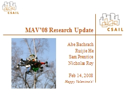 MAV'08 Research