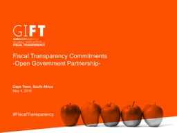 Fiscal Transparency Commitments