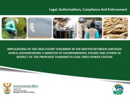 IMPLICATIONS OF THE HIGH COURT PowerPoint PPT Presentation