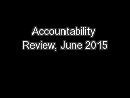 Accountability Review, June 2015