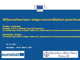 Alternative two-steps reconciliation practices
