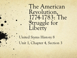 United States History 8 PowerPoint PPT Presentation