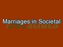 Marriages in Societal