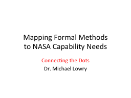 Mapping Formal Methods