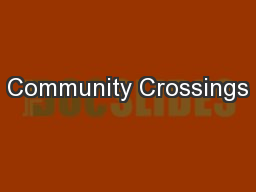 Community Crossings