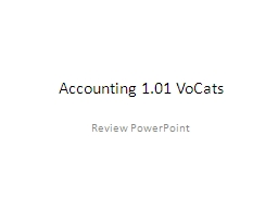 Accounting 1.01 PowerPoint PPT Presentation