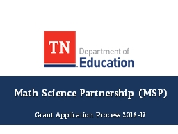Math Science Partnership (MSP)