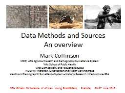 Data Methods and Sources