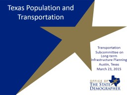 Texas Demographic Characteristics and Trends for Non-Profit