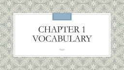Chapter 1 Vocabulary PowerPoint PPT Presentation