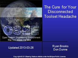 The Cure for Your Disconnected Toolset Headache PowerPoint PPT Presentation