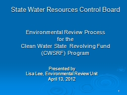 1 State Water Resources Control Board