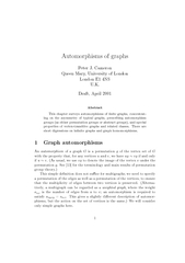 Automorphisms of graphs Peter J