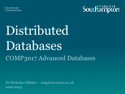 Distributed Databases PowerPoint PPT Presentation