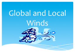 Global and Local Winds PowerPoint PPT Presentation