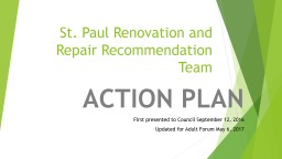 St. Paul Renovation and Repair Recommendation Team