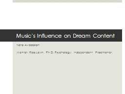 Music's Influence on Dream Content