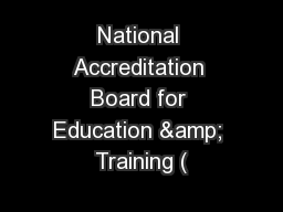 National Accreditation Board for Education & Training (