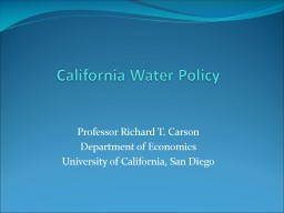 California Water Policy