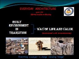 EVERYDAY ARCHITECTURE PowerPoint PPT Presentation