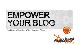 Empower your blog