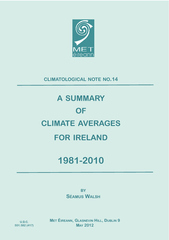 CLIMATOLOGICAL NOTE NO  A SUMMARY OF CLIMATE AVERAGES