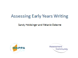 Assessing Early Years Writing PowerPoint PPT Presentation