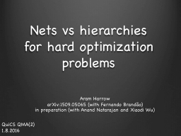 Nets vs hierarchies
