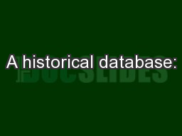 A historical database: