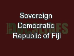 Sovereign Democratic Republic of Fiji