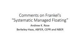 Comments on Frankel's