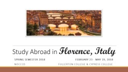 Study Abroad in
