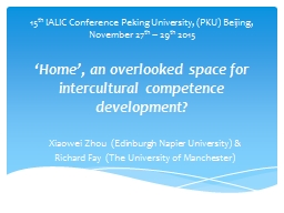 'Home', an overlooked space for intercultural competenc