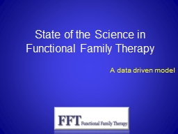 State of the Science in Functional Family Therapy