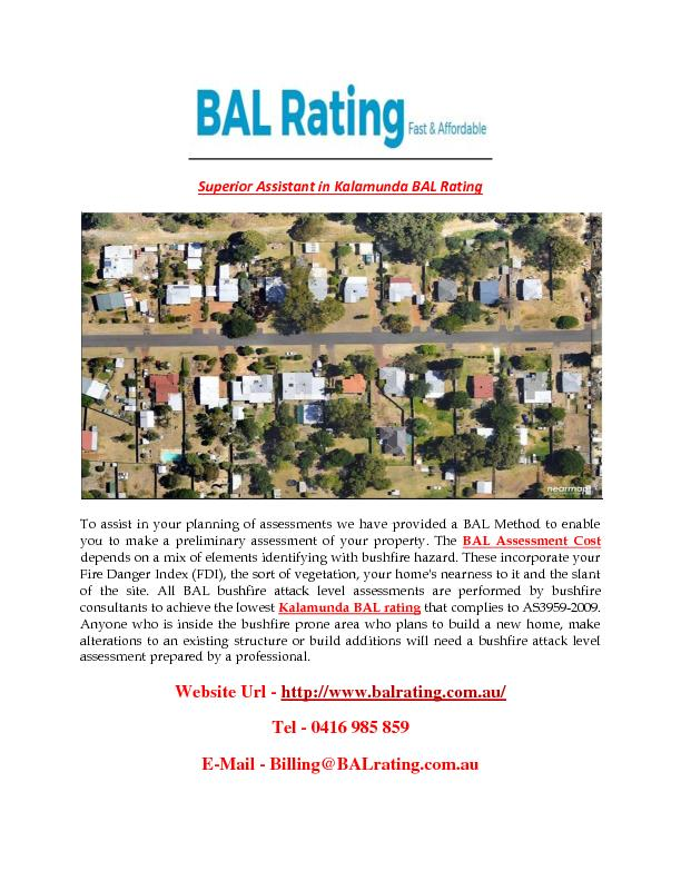 Superior Assistant in Kalamunda BAL Rating