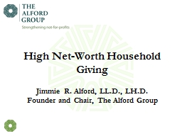 High Net-Worth Household Giving