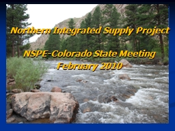 Northern Integrated Supply Project
