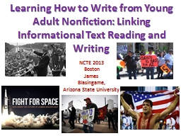 Learning How to Write from Young Adult Nonfiction: Linking