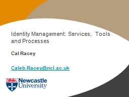 Identity Management: Services,  Tools and Processes PowerPoint PPT Presentation