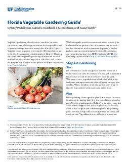 SP  Florida Vegetable Gardening Guide Sydney Park Brown J