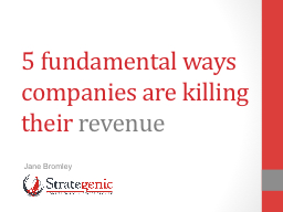 5  fundamental ways companies are killing their