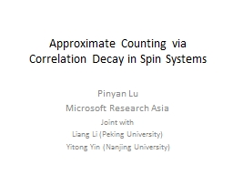 Approximate Counting via Correlation Decay in Spin Systems
