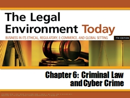Chapter 6:  Criminal Law PowerPoint PPT Presentation
