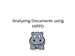 Analyzing Documents using