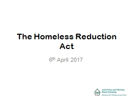 The Homeless Reduction Act