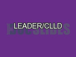LEADER/CLLD PowerPoint PPT Presentation